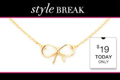 #STYLEBREAK! Get the #Bailey #Necklace for #$19. Today Only!