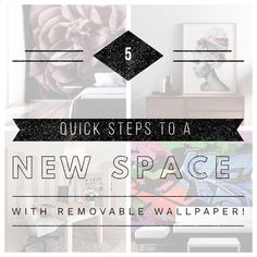 In 5 easy steps you can have a fully updated space! News Space, That One Friend, Accent Pieces, How To Remove, Wallpaper, Interior, Easy, Inspiration, Inspired