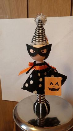 Spooky Clothespin Doll by KilbyCreations on Etsy, $10.00