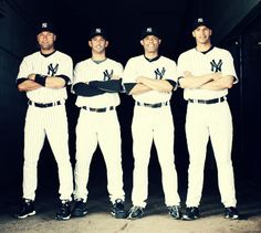 NY Yankees - The Core Four - Derek Jeter, Jorge Posada, Mariano Rivera, and Andy Pettitte