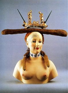 Dali, Salvador - 1933 Retrospective Bust of a Woman (porcelain display bust with ears of corn, strip of cardboard . Jean Francois Millet, Salvador Dali Paintings, Ears Of Corn, Spanish Artists, Learn Art, Art Database, Porcelain, Surrealism Sculpture, Fine Art