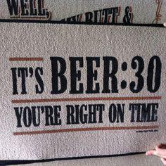 Beer:30 doormat