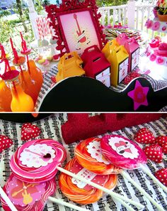 Embellished Valentine Lollipops...simply perfect to pass out, party or not.