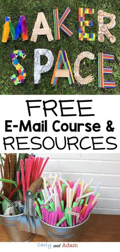Makerspace E-mail Course: A FREE guide to getting a makerspace set up and running smoothly in your classroom! We are so excited to be sharing our tips and FREE resources with you! You will be amazed at how easy it is to create a makerspace that will engage your students in hands-on, self-paced, inquiry-based learning throughout the year! (STEM activities) #makerspace #stem #stemactivities