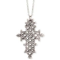 ethiopian cross necklace $28