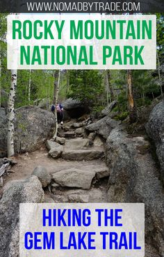 The Gem Lake Trail in Rocky Mountain National Park offers a challenging climb up Lumpy Ridge, but rewards hikers with spectacular views of Estes Park, CO. #Colorado   #USA   #Hiking   National Park hikes   Things to do in Colorado    Rocky Mountain hikes