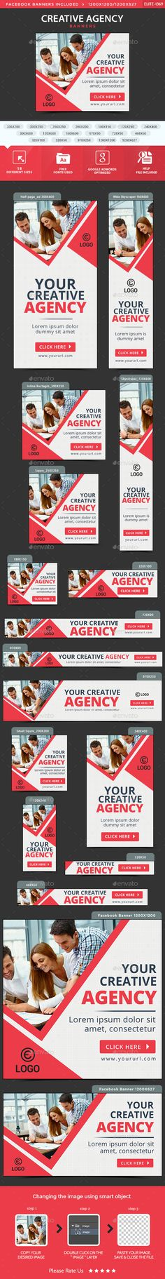 Creative Agency Banners Template PSD. Download here: http://graphicriver.net/item/creative-agency-banners/15677640?ref=ksioks