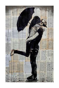 Rainy Day Young Love Canvas Wall Art on @HauteLook