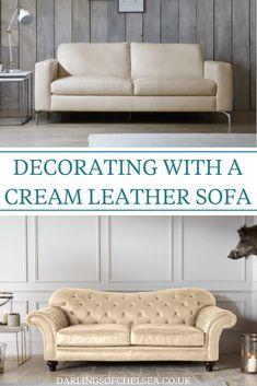 11 Best Cream leather sofa images in 2018 | Cream leather sofa ...