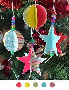 Coucou, Qui dit mercredi après-midi de Décembre, dit qu'il faut occuper les enfants ! Et pourquoi pas autour de la décoration de Noël !?! Notre sapin est installé depuis dimanche et comme les ornem...