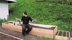 This is my take at a hinged hoophouse for my raised bed. I am really happy with the way it turned out! It's a simple and cheap build that gives your raised bed…