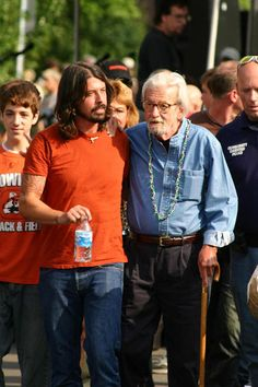 Dave and his dad (James ... I love the lead singer of Foo Fighters