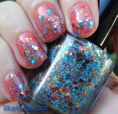 Havasu by Rainbow Polish..... this is am amazzzzziinngg glitter line you gotta check out!