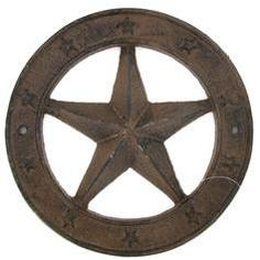 Cast Iron Star In Circle Wall Decor