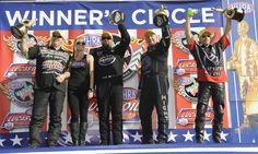 2013 U.S. Nationals Winners - Mike Edwards, Shawn Langdon, Robert Hight and John Hall