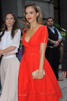 Jessica Alba in Preen's classic dress!