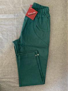 Spodnie z bengaliny Cevlar B08 kolor malachit - Big Sister