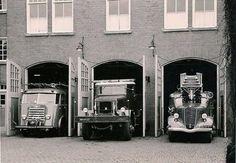 Groningen<br />De stad Groningen: Zuiderdiep brandweerkazerne 1958