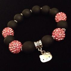 Hello Kitty Pandora bracelet!!! I LOVE this one! I love how simple it is! If I ever make a Pandora bracelet it'll be inspired by this! <3 #HelloKittyAddict