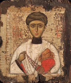 Saint Stephen Protomartyr, ca. 1300 Byzantine Turkey or Greece, Istanbul (Constantinople) or Thessaloniki Tempera and gold leaf on wood 10 × 8 × 1 in. Byzantine Icons, Byzantine Art, Religious Icons, Religious Art, Roman Church, Saint Stephen, Russian Icons, Best Icons, Art Icon