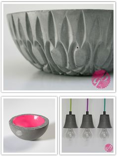 i sure this could be a DIY project. jelly mould or bowl, concrete/plaster, another bowl to create the inside void + paint...?