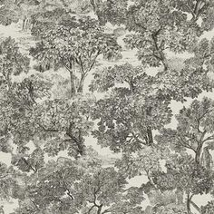 Blyth Black Toile Wallpaper 3112-002723