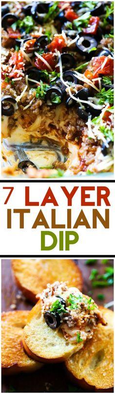 cool 7 Layer Italian Dip | Chef in Training