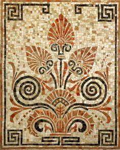Мозаичное панно Античный орнамент