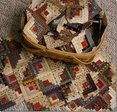 Log Cabin Quilt!  I would love for Stephanie to make this for me!!  <3