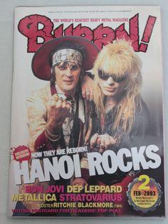 2003/02 BURRN! Japan Magazine HANOI ROCKS/METALILICA/BON JOVI/SLIPKNOT/DEFLEPPAD