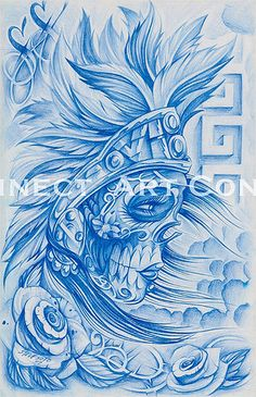 Tattoo Art/Underground Art - La Muerta 2 by Steve Soto by Art Connect, via Flickr