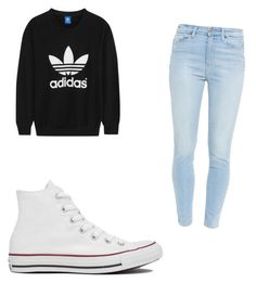 """Untitled #23"" by kcandkc on Polyvore featuring adidas Originals, Paige Denim and Converse"