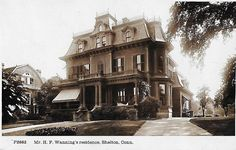 The Residence of Henry. F. Wanning, 36 Fairmont Place.. Shelton. CT. Wanning was President and Agent for Birmingham Iron Foundry in Derby.