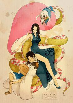 Hancock and Luffy