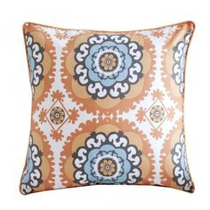 Medallion Orange Accent Pillow