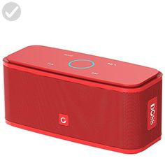 DOSS SoundBox Bluetooth 4.0 Portable Wireless speaker,Superior Sound quality with a powerful Subwoofer,sensitive touch control,Sleek and Modern Design,Build in Microphone[Color:Red] - Audio gadgets (*Amazon Partner-Link)