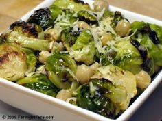 Brussels Sprouts with Lemon & Parmesan. Best way I've ever eaten this wonderful, wonderful, vegetable.