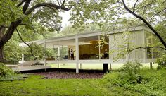 Master architect Ludwig Mies van der Rohe created the ultimate minimalist masterpiece, the Farnsworth House, in pastoral Plano. The stellar structure of floor-to-ceiling glass seemingly floats above the rambling Fox River.