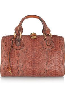 CHLOÉ  Aurore python and leather duffle bag  Erm donations anyone? This will complete me - for this season anyway.