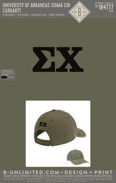 University of Arkansas Sigma Chi Hat | Fraternity Event | Greek Event #sigmachi #machi #sx #uofa Sigma Chi, University Of Arkansas, Fraternity, Beanies, Army Green, Greek, Embroidery, Hats, Artwork