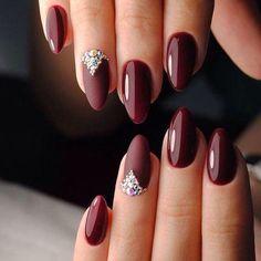 Color purple Trendy Manicure Ideas In Fall Nail Colors;Purple Nails; Trendy Manicure Ideas In Fall Nail Colors;Purple Nails; Maroon Nails, Burgundy Nails, Purple Nails, Burgundy Wine, Purple Hues, Burgundy Wedding, Dark Purple, Red Burgundy, Dark Red