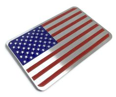 Aluminum Alloy American US Flag Car Stickers/ Decals Car Decals, Bumper Stickers, Metal American Flag, Us Marines, Mustang, Badge, Trucks, Red Tape, Rubbing Alcohol