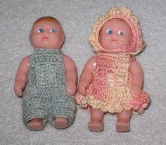Renwal Dollhouse Twins in Crocheted by NewEnglandYesterdays
