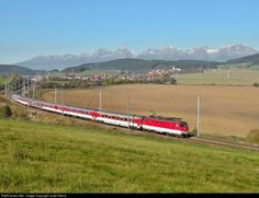 350 017-0 ZSSK 350 ŠKODA at Vydrník, Slovakia by Jozef Grena Locomotive, Trains, Electric, Life, Train, Locs