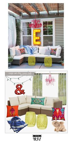 Breezy back patio by #LindseyBoyer for only $831 #Copycatchicroomredo