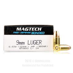 Magtech 9mm Ammo - 50 Rounds of 124 Grain JHP Ammunition #Magtech #MagtechAmmo #9mmammo #JHP
