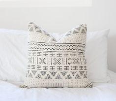 African Mudcloth Pillow 'Malika' by Maewoven on Etsy