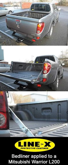 LINE-X Bedliner sprayed on to a #Mitsubishi #L200 by LINE-X North Devon. For more information check out http://linexnorthdevon.co.uk #MitsubishiL200 #Truck #ToughStuff #LINEX