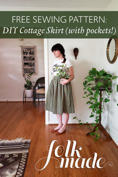 Skirt Patterns Sewing, Sewing Patterns Free, Free Sewing, Diy Clothing, Sewing Clothes, Easy Sewing Projects, Sewing Tutorials, Fashion Sewing, Diy Fashion