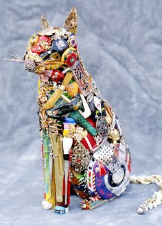 Sculptures made from trash & junk! Very cool!
